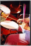 Man playing the drums Fine-Art Print