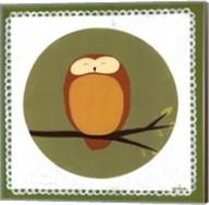 Owl Cameo I Fine-Art Print