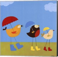 Rainy Day Birds I Fine-Art Print