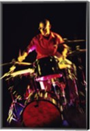 Young man playing the drums Fine-Art Print