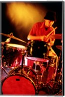 Male drummer playing drums Fine-Art Print