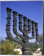 Low angle view of a menorah, Knesset Menorah, Jerusalem, Israel Fine-Art Print