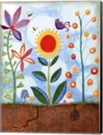 Whimsical Flower Garden II Fine-Art Print