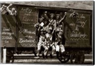 German Soldiers in a Railroad Car on the Way to the Front Fine-Art Print