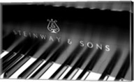 Steinway & Sons, Piano Keys With Modern Logo Fine-Art Print