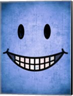 Hang up a Smile (blue) Fine-Art Print