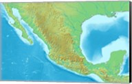 Map of Mexico Demis Fine-Art Print