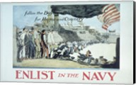 Follow the Boys in Blue for Home and Country Enlist in the Navy Fine-Art Print