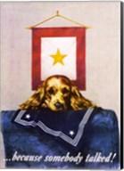 Sad Puppy Propoganda Poster, 1944 Fine-Art Print