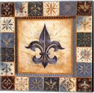 Bleu Fleur De Lis II Fine-Art Print