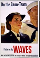 On the Same Team Enlist in the Waves Fine-Art Print