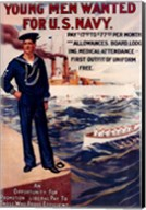 Navy Recruiting Poster, 1909 Fine-Art Print