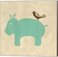 Best Friends- Hippo Fine-Art Print