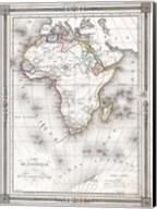 1852 Bocage Map of Africa Fine-Art Print
