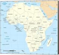 Africa Map Political Fine-Art Print