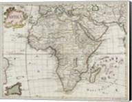 Map of Africa 1745 Fine-Art Print