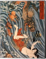 Tamatori Being Pursued by a Dragon Fine-Art Print