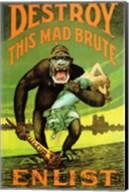 Destroy This Mad Brute' US Enlist Poster Fine-Art Print