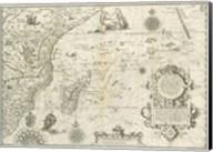 East Africa and the Indian Ocean 1596, Arnold Florent van Langren Fine-Art Print