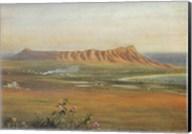 Edward Clifford (1844-1907) - 'DiamondHead, Honolulu', watercolor painting, 1888 Fine-Art Print