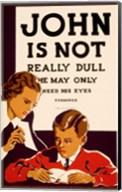 John is Not  Really Dull, WPA Poster, ca. 1937 Fine-Art Print