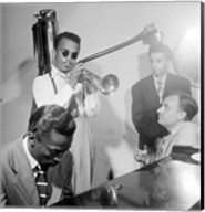 Howard McGhee, Brick Fleagle and Miles Davis, September 1947 Fine-Art Print
