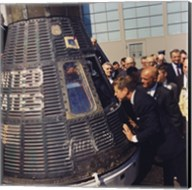 JFK Inspects Mercury Capsule Fine-Art Print