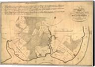 Map of Mt Vernon made by Washington Fine-Art Print