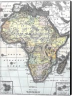 Map of Africa from Encyclopaedia Britannica 1890 Fine-Art Print