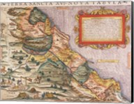 Sebastian Munster, Ptolemy. Terra Sancta XVI Fine-Art Print