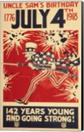 Uncle Sam's Birthday 1776 July 4th 1918 Fine-Art Print
