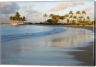 Waikiki Beach And Palm Trees Fine-Art Print
