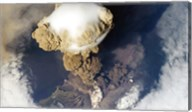 Sarychev Peak Volcano from Nasa Satelite Photo Fine-Art Print