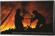 Firefighter Hero Quote Fine-Art Print