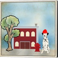 Dalmation Firehouse Fine-Art Print