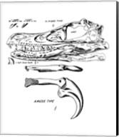 Velociraptor Skull Chart Fine-Art Print