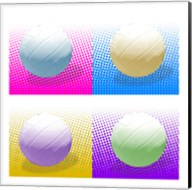Volleyball Pop Squares Fine-Art Print