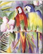 Parrots On A Branch Fine-Art Print