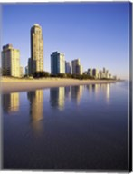 Reflection of buildings in water, Surfers Paradise, Queensland, Australia Fine-Art Print