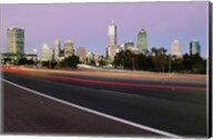 Streaks of light on a road, Perth, Australia Fine-Art Print