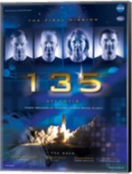 NASA STS-135 Official Mission Poster Fine-Art Print