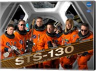 STS130 Mission Poster Fine-Art Print