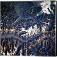 Swiss alps from space taken by Atlantis Fine-Art Print