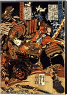Matano Goro Kagehisa wrestling with Sanada Yoichi Yoshitada Fine-Art Print