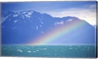 Rainbow over a sea, Resurrection Bay, Kenai Fjords National Park, Alaska, USA Fine-Art Print