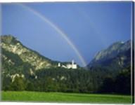 Rainbow over a castle, Neuschwanstein Castle, Bavaria, Germany Fine-Art Print