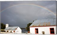 Rainbow over a cottage, Cloonee Lakes, County Kerry, Munster Province, Ireland Fine-Art Print