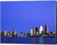 Buildings on the waterfront, CN Tower, Toronto, Ontario, Canada Fine-Art Print