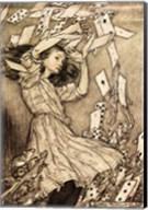 Alice in Wonderland - cards Fine-Art Print