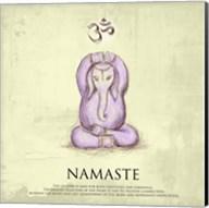 Elephant Yoga, Namaste Pose Fine-Art Print